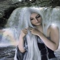Girl in Waterfalls Live Wallpaper